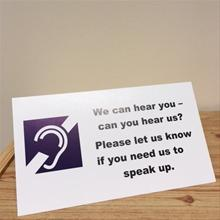 Hard of Hearing Tent Card from Alcoholics Anonymous (Great Britain) Ltd