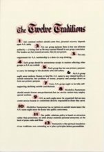 Twelve Traditions Parchment from Alcoholics Anonymous (Great Britain) Ltd