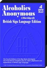 Alcoholics Anonymous British Sign Language DVD4 DVD set from Alcoholics Anonymous (Great Britain) Ltd