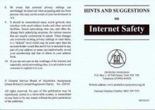 Hints & Suggestions for Internet Safety Card from Alcoholics Anonymous (Great Britain) Ltd