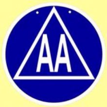 AA Meeting Room Sign (Plastic) from Alcoholics Anonymous (Great Britain) Ltd