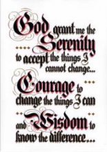 Serenity Prayer Table Card from Alcoholics Anonymous (Great Britain) Ltd