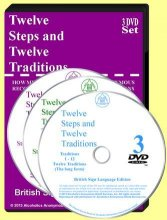Twelve Steps & Twelve Traditions British Sign Language Edition 3 DVD Set from Alcoholics Anonymous (Great Britain) Ltd